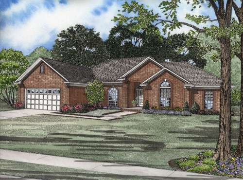 Traditional Style Home Design Plan: 12-571