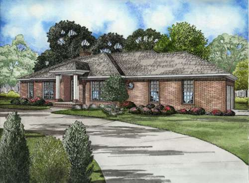 Traditional Style Home Design Plan: 12-578
