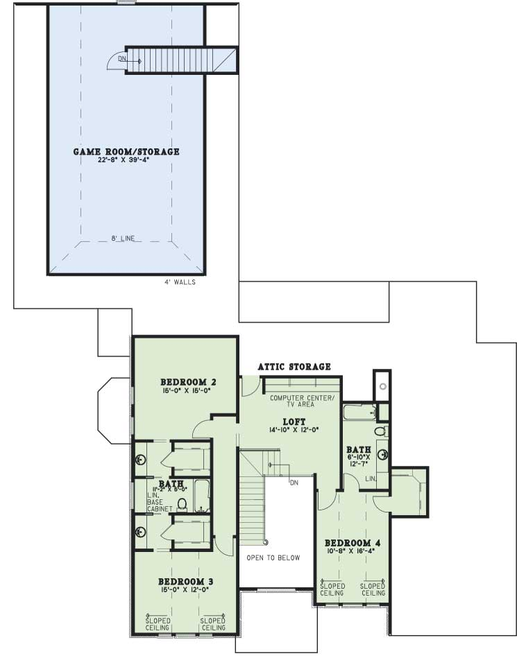 Upper/Second Floor Plan: 12-579