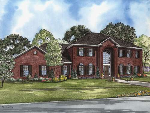 European Style House Plans Plan: 12-583