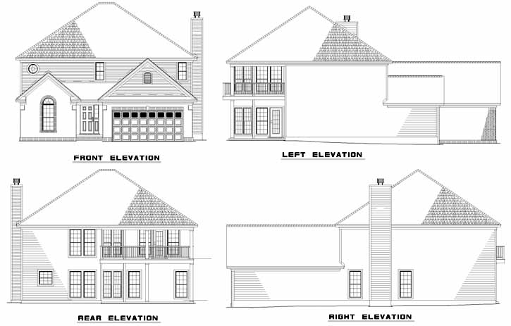Rear Elevation Plan: 12-585