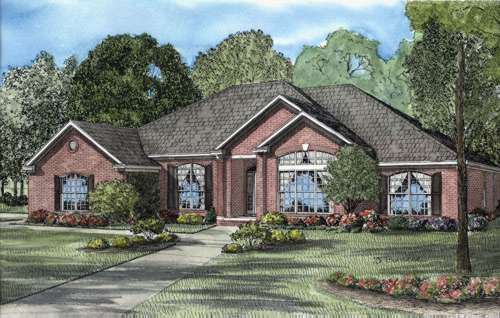 Traditional Style Floor Plans Plan: 12-586