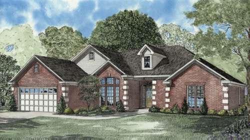European Style House Plans Plan: 12-588