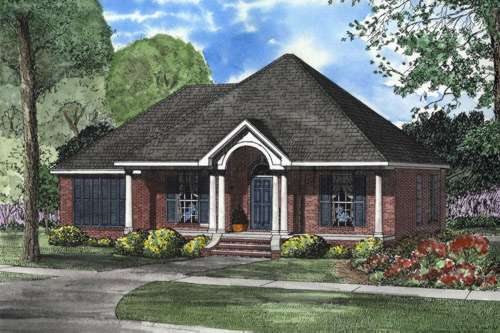Southern Style Home Design Plan: 12-589