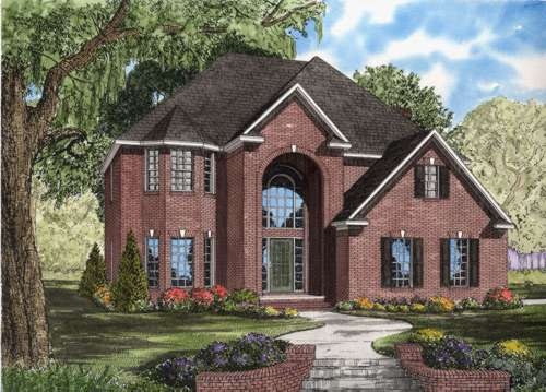 Traditional Style Home Design Plan: 12-593