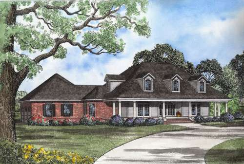 Southern Style Floor Plans Plan: 12-595