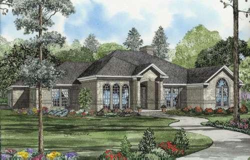 European Style House Plans Plan: 12-596
