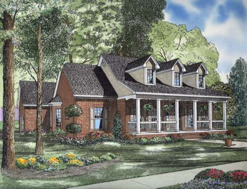 Country Style House Plans Plan: 12-597