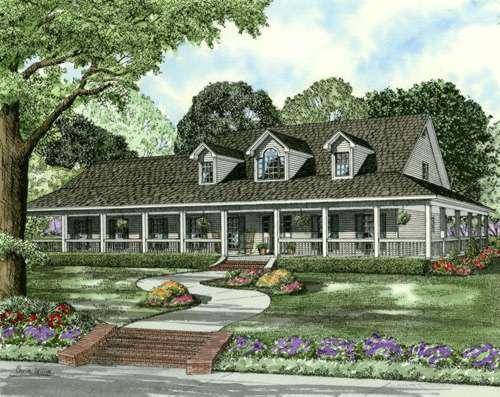 Farm Style House Plans Plan: 12-599