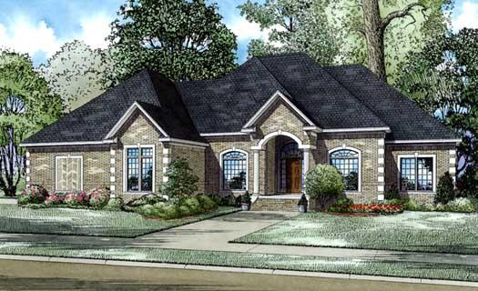 European Style Home Design Plan: 12-601