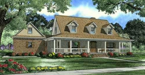 Farm Style Floor Plans Plan: 12-607