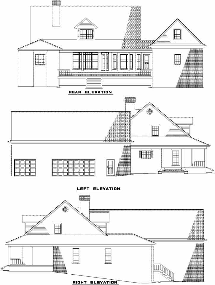 Rear Elevation Plan: 12-607
