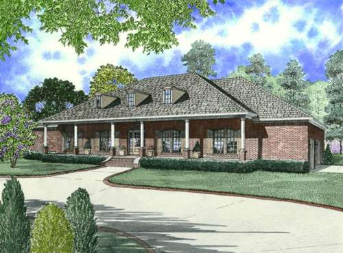 Southern Style Home Design Plan: 12-609