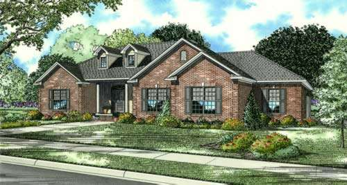 Traditional Style Home Design Plan: 12-611