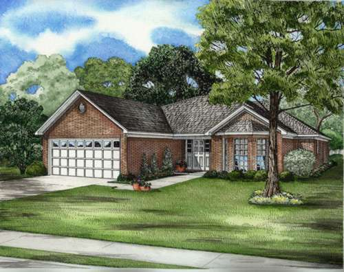 Traditional Style Home Design Plan: 12-613