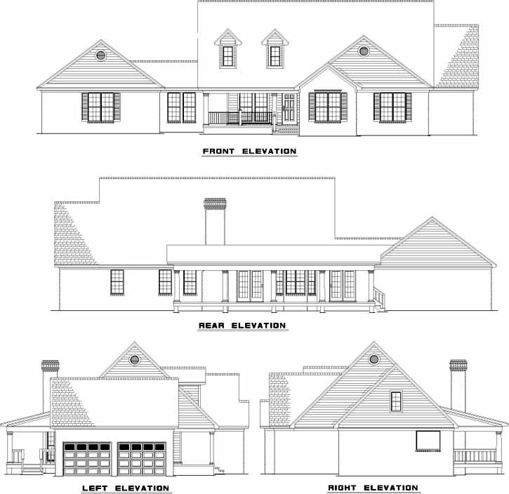 Rear Elevation Plan: 12-615