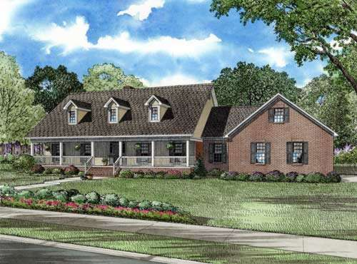 Country Style House Plans Plan: 12-617