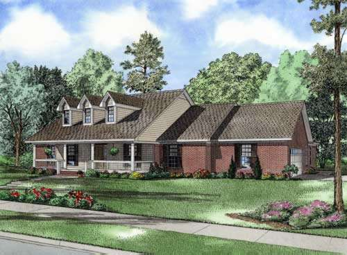 Country Style Home Design Plan: 12-621