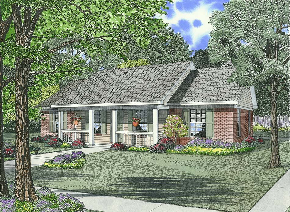 Country Style Floor Plans Plan: 12-623