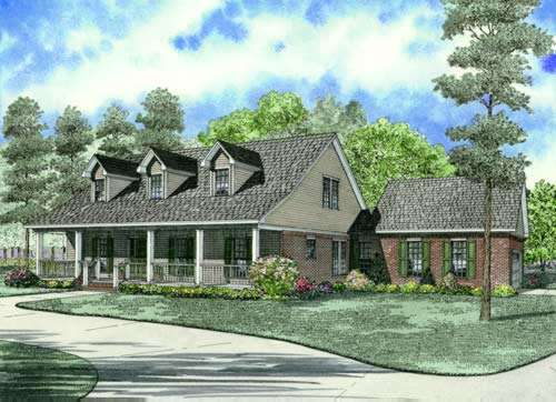 Country Style Floor Plans Plan: 12-626