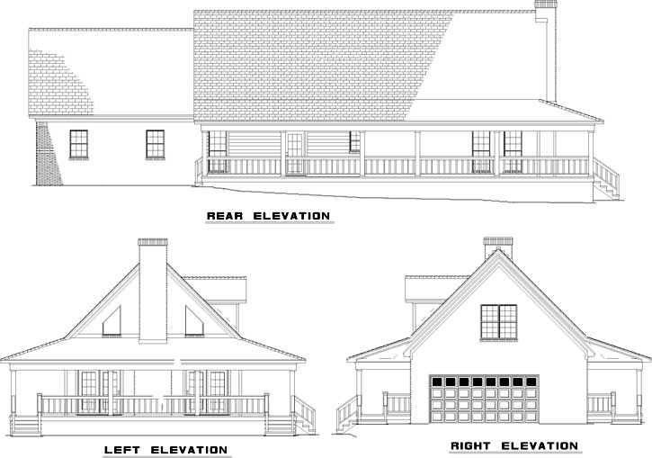 Rear Elevation Plan: 12-629