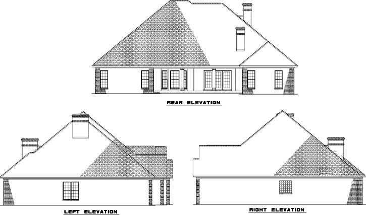 Rear Elevation Plan: 12-631