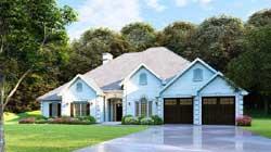 European Style Home Design Plan: 12-631