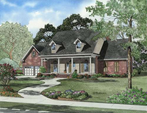 Southern Style Home Design Plan: 12-632
