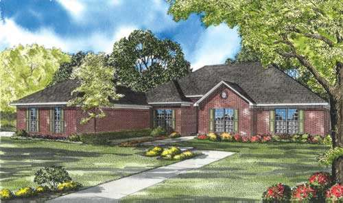 Traditional Style Home Design Plan: 12-633