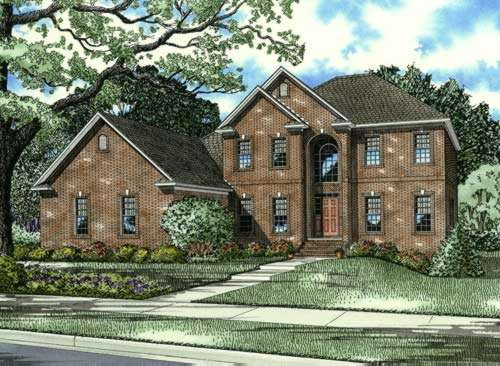 Traditional Style Home Design Plan: 12-635