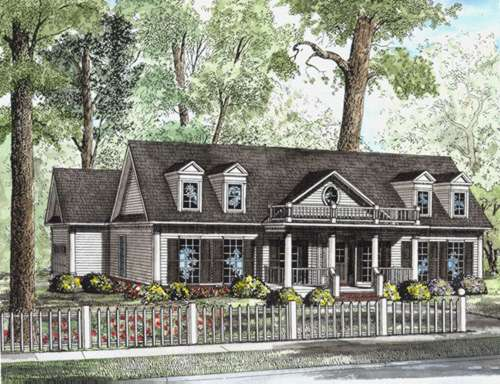 Southern Style Floor Plans Plan: 12-642