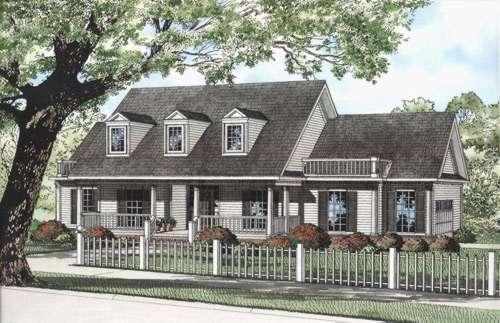 Southern Style Home Design Plan: 12-643