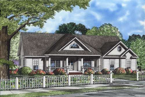 Country Style Floor Plans Plan: 12-645