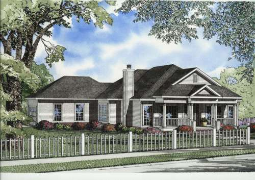 Southern Style Floor Plans Plan: 12-646