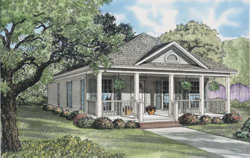 Southern Style Home Design Plan: 12-649
