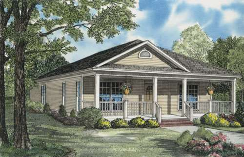 Southern Style Home Design Plan: 12-650