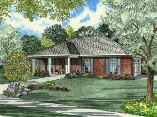 Southern Style Home Design Plan: 12-658