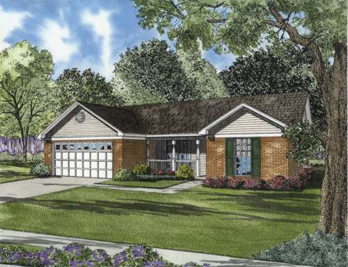 Traditional Style Home Design Plan: 12-661