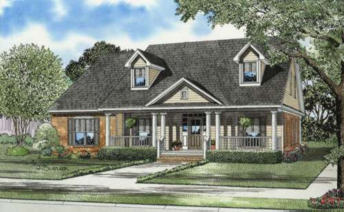 Southern Style Floor Plans Plan: 12-666
