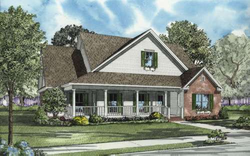 Southern Style Home Design Plan: 12-667