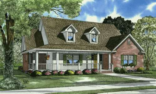 Country Style Home Design Plan: 12-669