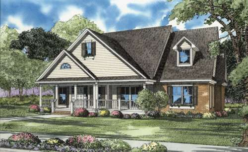 Country Style Floor Plans Plan: 12-671