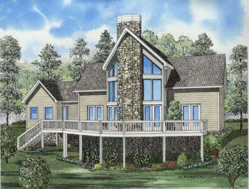 Contemporary Style House Plans Plan: 12-680