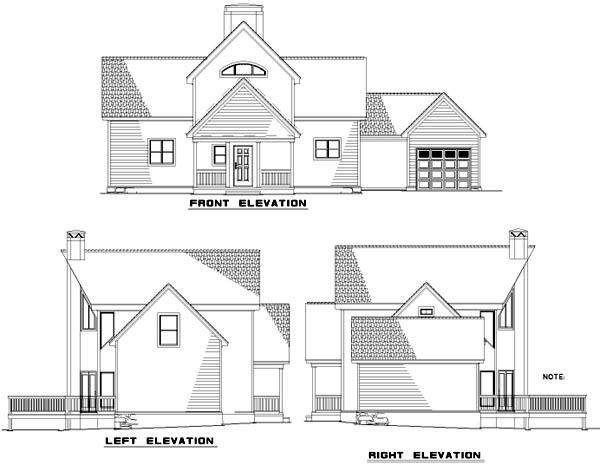 Rear Elevation Plan: 12-680