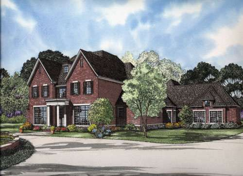 European Style House Plans Plan: 12-682