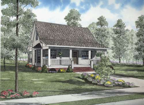 Country Style Home Design Plan: 12-683