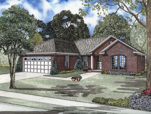 Traditional Style Floor Plans Plan: 12-687