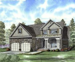 French-Country Style House Plans Plan: 12-689