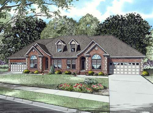 European Style Home Design Plan: 12-690