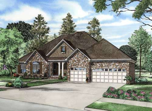 English-country Style Home Design Plan: 12-691